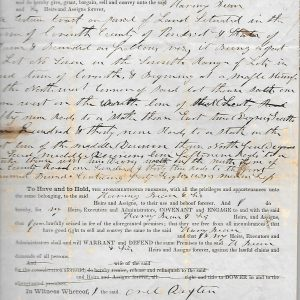 #17 1848 Deed to Harmony Bean by William Bean (Fam. 1780)