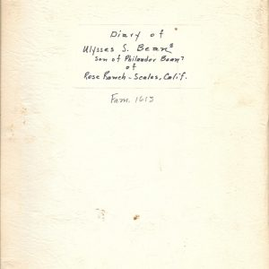 #23 Copy of Ulysses S. Bean Diary