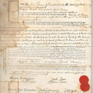#3 1871 Deed Joel Bean to Charles, NH